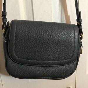J. Crew Signet flap bag in Italian leather Gray